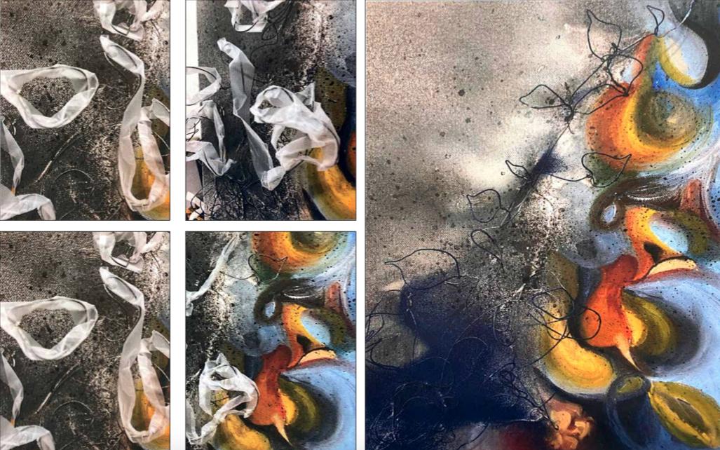 Artwork from Nadezda's portfolio exploring shape and contrast