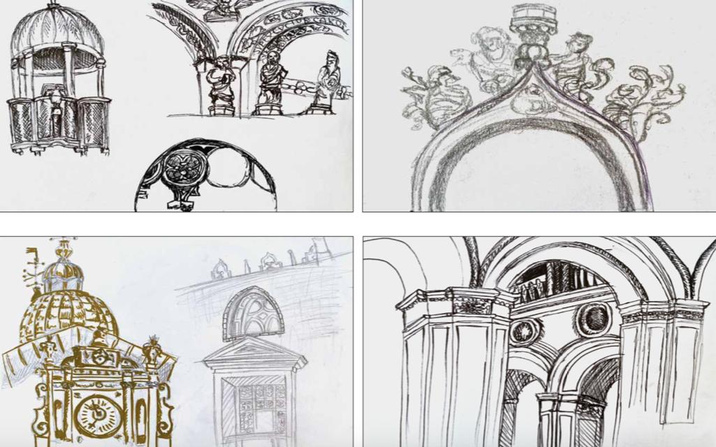 Architectural-inspired artwork from Nadezda's portfolio